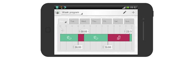 Oppsett av ukesprogram i appen Nobø Energy Control