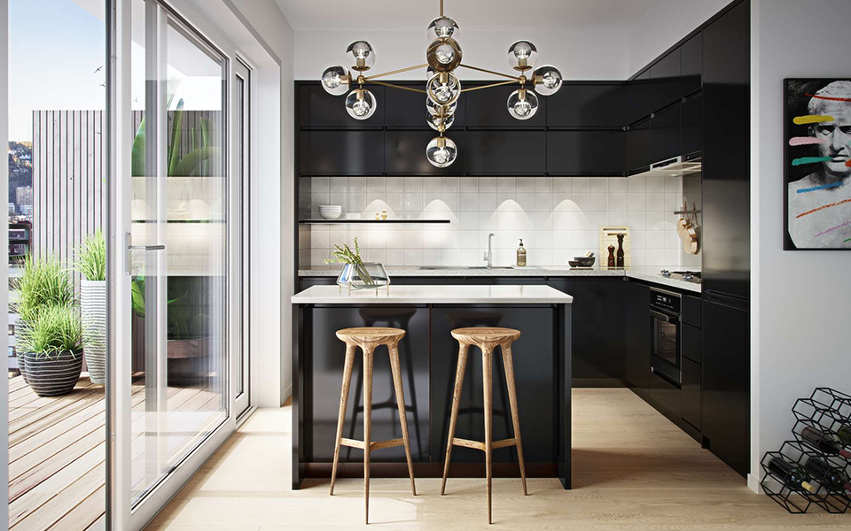 I et av Oslos største boligprosjekter, Tiedemannsbyen, tar Nobø nå del i et hybridprosjekt. (Illustrasjonsbilde Selvaag Bolig)